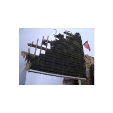 Holle dakpan (dubbel) Antraciet